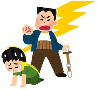 怒るお父さん